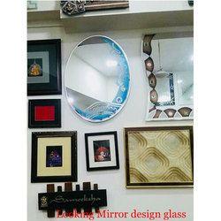 Looking Mirror Design Glass, Shape: Round