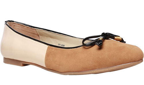 competitive price 14283 6d30f Bata Beige Ballerinas For Women F551436500