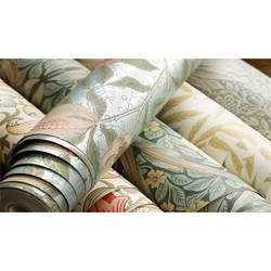 Printed Designer PVC Wallpaper, Packaging Type: Roll