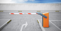 Magnetic Boom Barrier and Flap Barrier with Automatic Entry & Exit Control