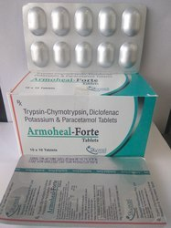 Trypsin-Chymotrypsin, Diclofenac Potassium & Paracetamol Tab