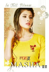 Masha Heavy Two Tone With Manual Embroidery Work Beautiful Kurtis