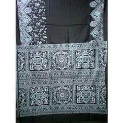 Ladies Art Silk Black Sarees, Length: 6.3 m