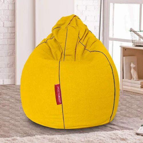 6d48be91d1 Teardrop Daffodil Cotton Khadi Bean Bag Cover Yellow Xxxl