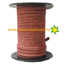 Cocoa Brown Faux Suede Leather Cord