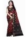Jacquard Silk Resham Embroidery Bandhani Saree