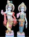 White Hindu Marble Radha Krishna Statue, For Worship, Size: 12 To 66 Inch