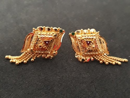 Yellow Dangle 916 Gold Earrings Tops Packaging Type Poly Bag For Daily Wear Rs 3700 Gram Id 20053019830,Gold Chain Designs For Womens With Price