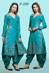 Ladies Designer Patiala Silk Suits