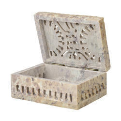 Soapstone Carving Jewelry Box