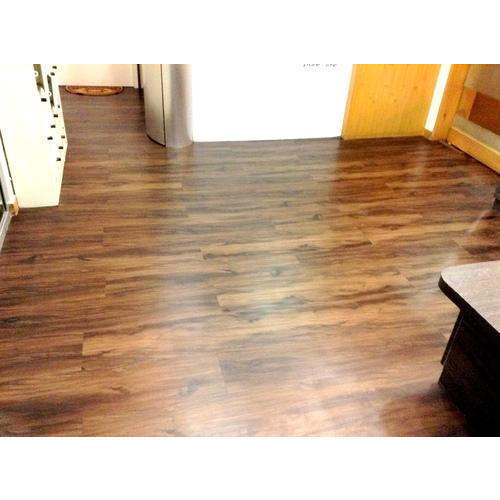 Plastic Floor: Brown PVC Vinyl Flooring, Rs 22 /square Feet, Sunny
