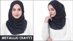 Women Georgette Plain Scarf Hijab Stoles