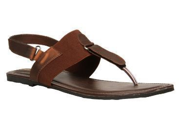 Casual Leather Bata Brown Sandals For
