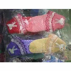 Cotton Baby Girl Socks, Age: 0-1yr