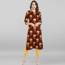 Brown Rayon Kurta With Pant(SET148)