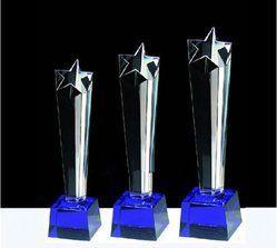 Star Shape Crystal Trophy