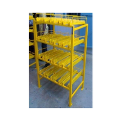 Storage Rack With Roller Track