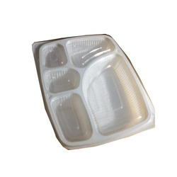Rectangle White 5 Compartment Disposable Thali  sc 1 st  IndiaMART : disposable thali plates - pezcame.com