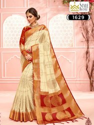 Style Instant Present Shagun Silk Pure Dola Silk Ethnic Wear Saree