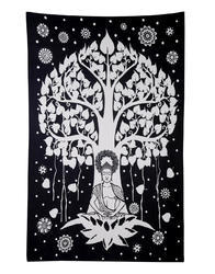 Tree Buddha Yoga Meditation Tapestry