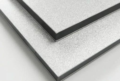 White Aluminium Panel : Eurobond metallic finish silver aluminum composite panel size