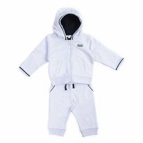 0d0fd403ebf Fleece Kids White Tracksuit