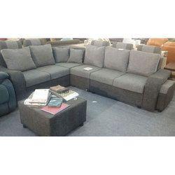 Wooden Grey Corner Sofa Set