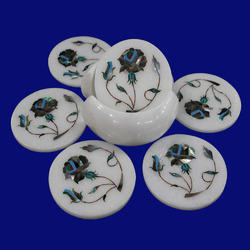 Decorative Marble Coasters Set
