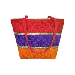 Ladies Designer Jute Handbag