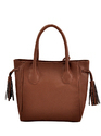 Tan Synthetic Leather Handbag