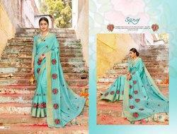 Blue Fancy Royal Ladies Saree