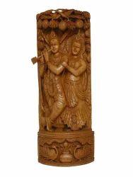 Sandalwood Radha Krishna Idol