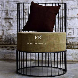 Iron Round Chair