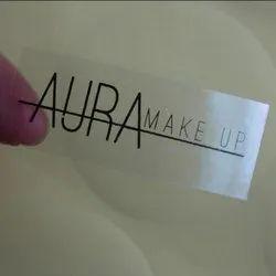 Transparent PVC sticker, Size: Custom