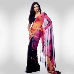 Cotton Party Wear Ladies Printed Saree