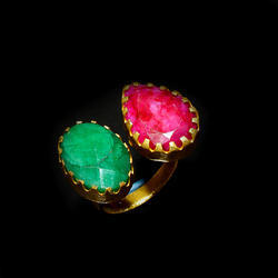 Latest Design Gemstone Gold Plated Finger Ring for Girls