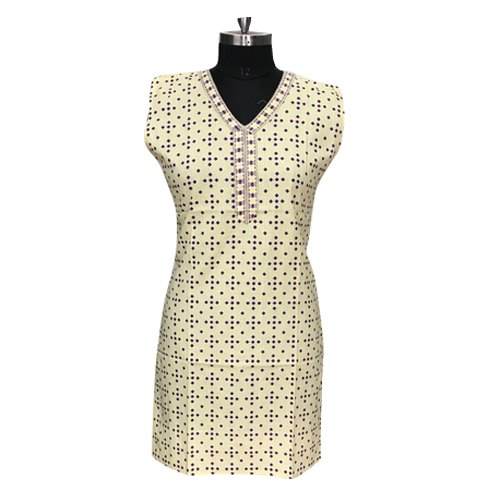 Party Wear L Long Printed Cotton Kurtis