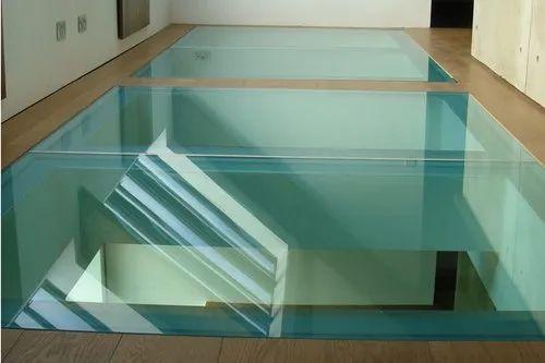 Laminated Glass Floor क च, Laminated Glass Flooring