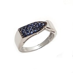 Blue Sapphire Customized Personal Mens Ring Royal Choice Favourite Mens Ring