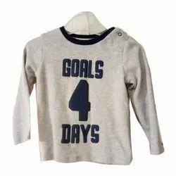 Cotton Casual Wear Kids Fancy T Shirt, Size: 5-7 Years