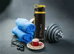 STEELWELL BLACK STAINLESS STEEL SIPPER WATER BOTTLE, Model Name/Number: Stellar, Size: 750ml
