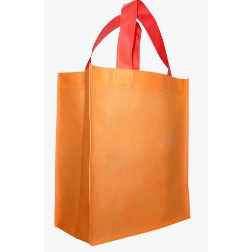 Orange Designer Non Woven Carry Bag