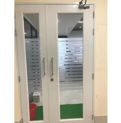 Universal Engineering White Office Glass Door