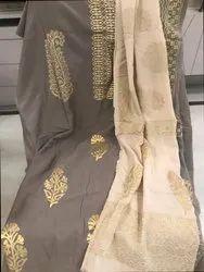 Pure Muslin Suit With Muslin Dupatta n Foil Printing