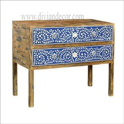 Blue Woods Bone Inlay Table