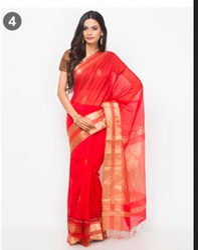 Cotton Silk Meena Buta Stitched Saree