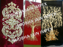 Fabric Embroidered Panel