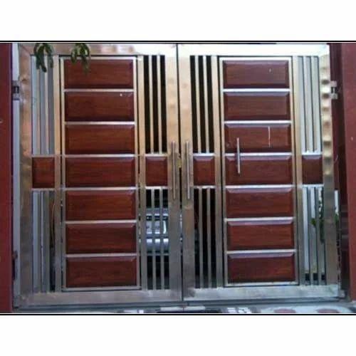 Ss Designer Gate Ss Gate Stainless Steel Darwaja सटनलस