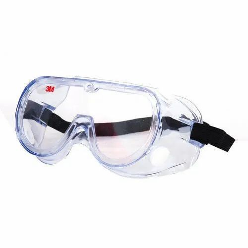 Clear 3M Chemical Splash Goggle, Model Number: 3M 1621