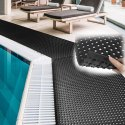 6 Ft X 33 Ft Anti Skid Floor Mat With Mini Drain Holes